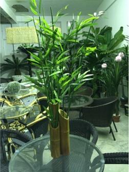 Kunstliche Palmen Und Baume Dekoration Von Bambusstocken Mit
