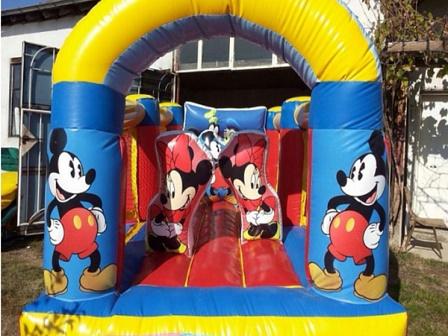 300602e1b90 Φουσκωτά παγίδες και διαφάνειες: Φουσκωτό μίνι τραμπολίνο Mickey Mouse